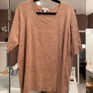 3x coldwater creek short sleeve sweater